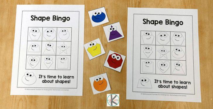 Printable Shape Bingo Cards