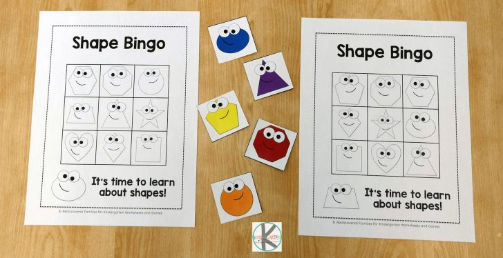 Shape Bingo Card Printables