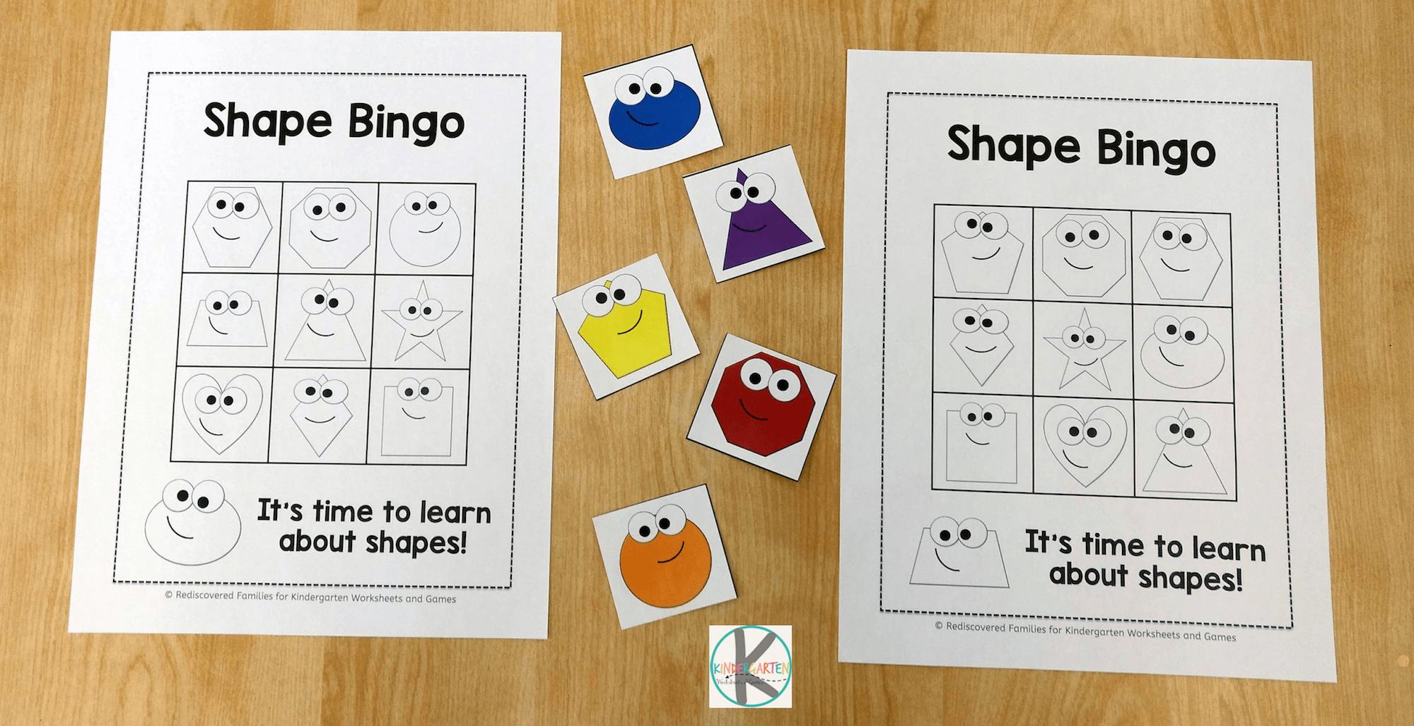 Free Shape Bingo