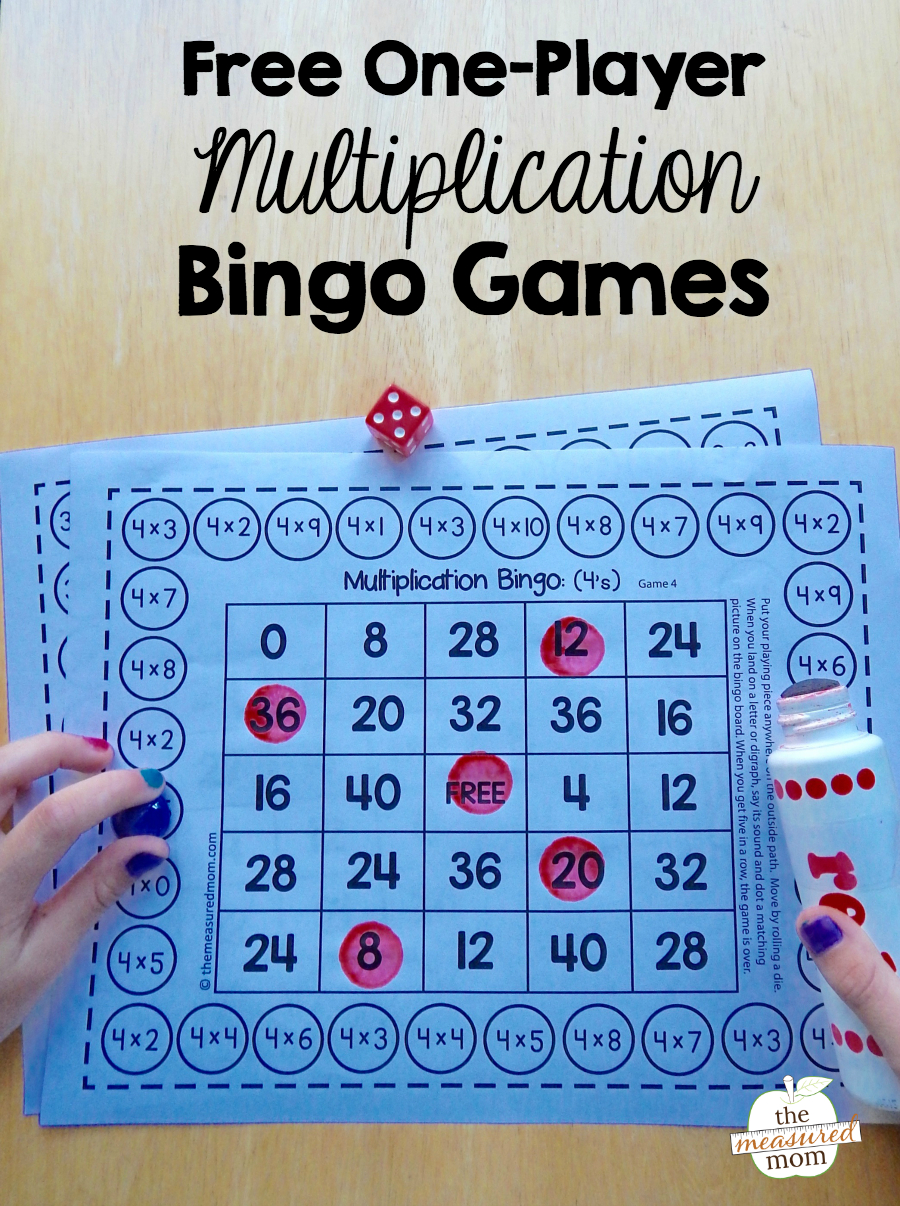 Free Single-Player Multiplication Bingo Games - Wiskunde