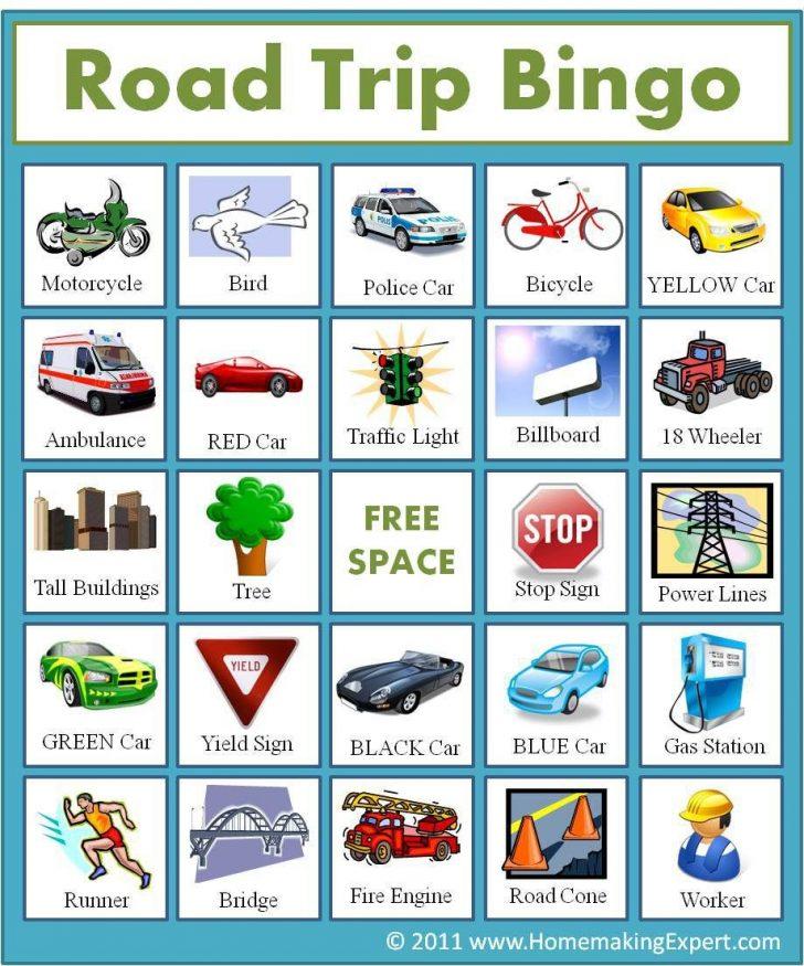 Car Bingo Cards Printable Uk
