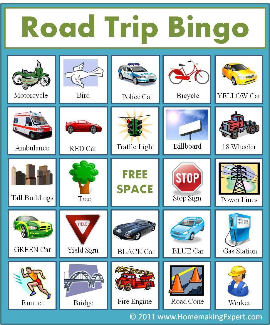 Free Travel Bingo Printables!! **gift Idea & Coupon | Road