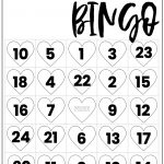 Free Valentine Bingo Printable Cards   Paper Trail Design