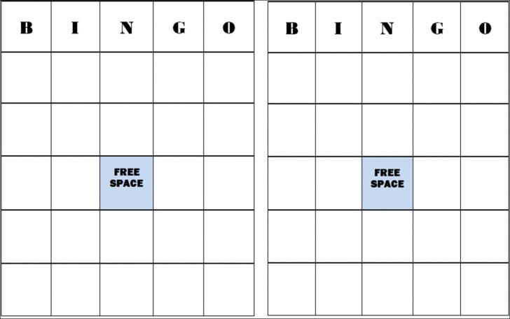 Printable Blank Bingo Card 5×5