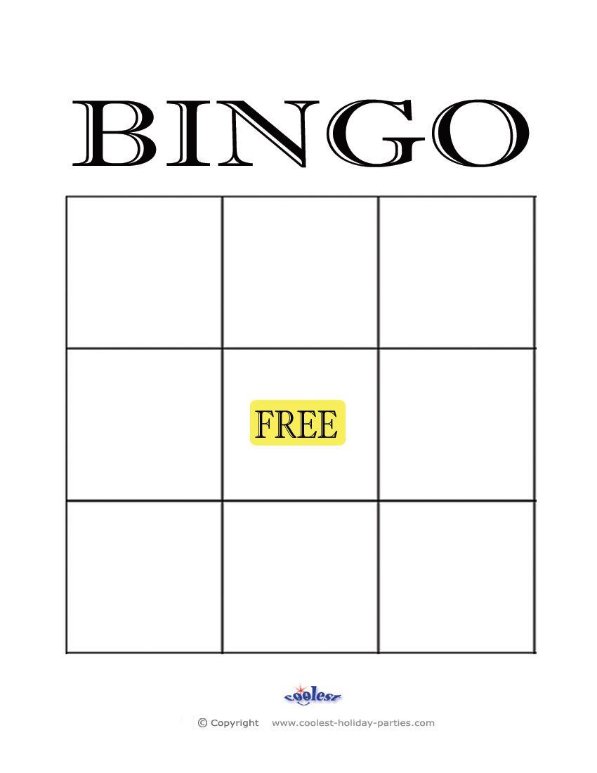 Free+Printable+Blank+Bingo+Cards+Template | Bingo Card