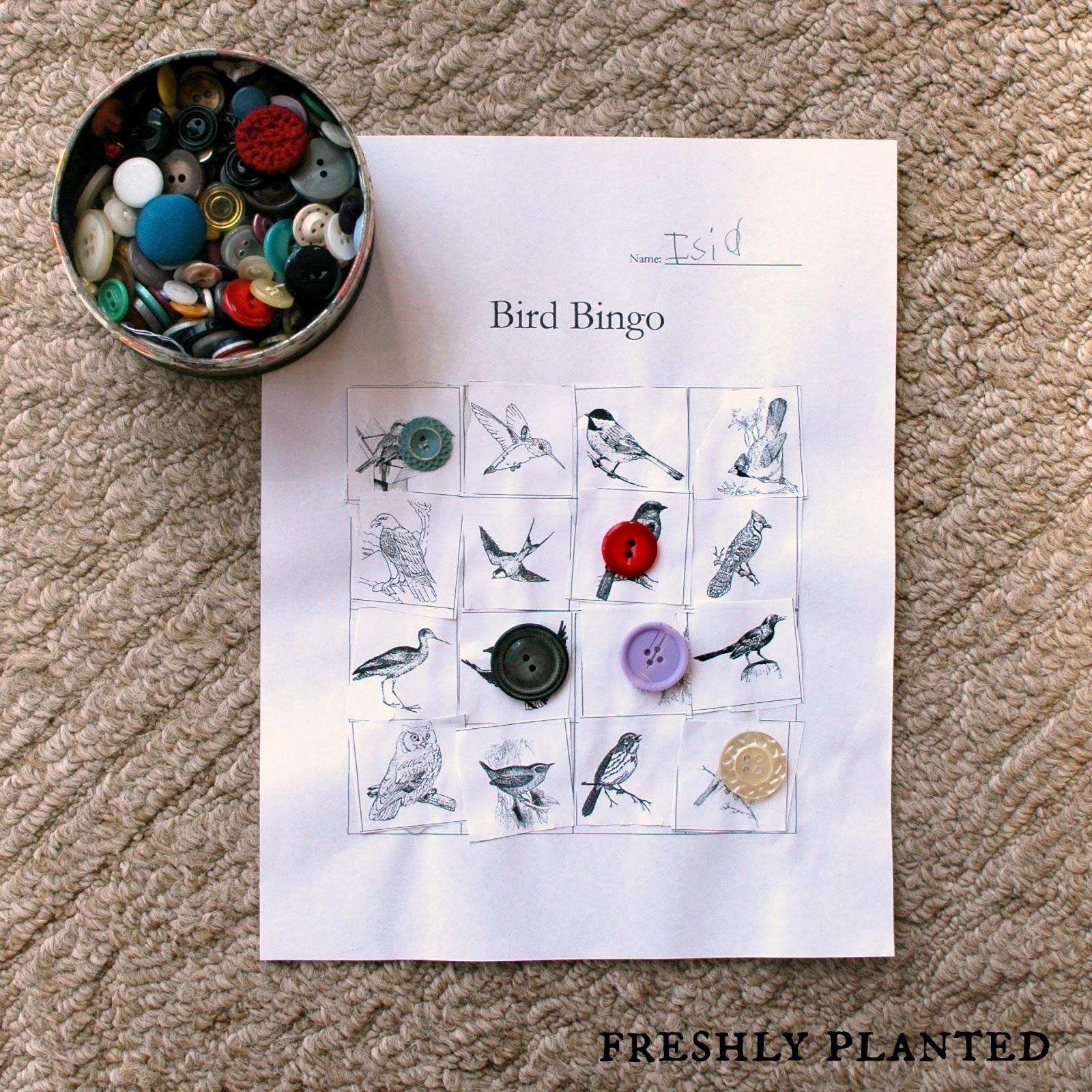 Freshlyplanted: Bird Bingo {Free Printables}
