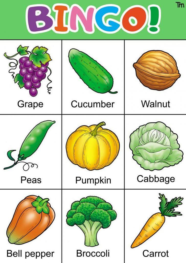 Vegetable Bingo Card Printables