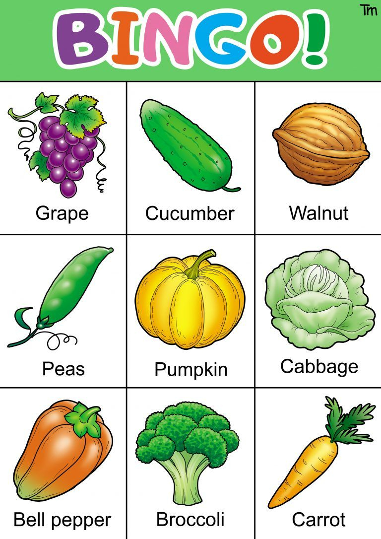 Fruit And Veggie Bingo Game With Free Bingo Cards | Free