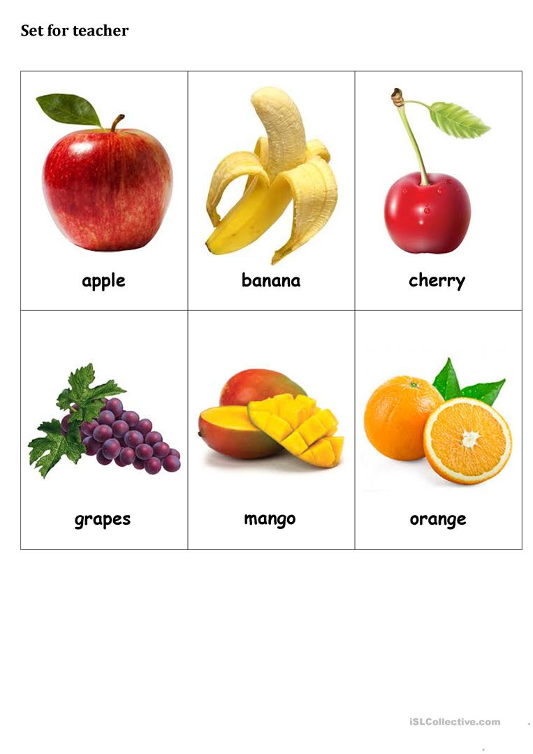 Fruit Bingo - English Esl Worksheets For Distance Learning