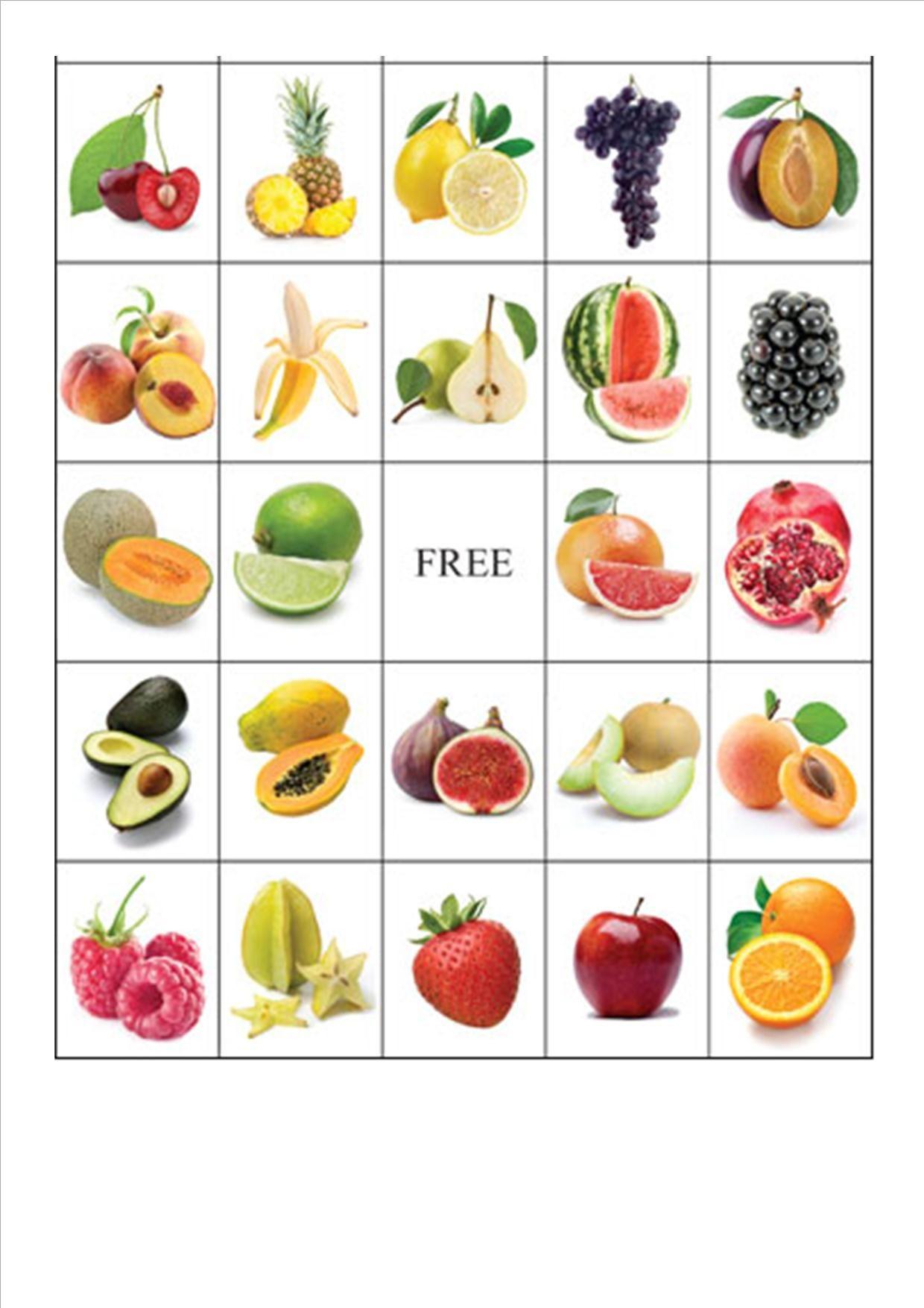 Fruit-Bingo4 (1240×1754) | Voeding, Groenten, Fruit