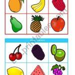 Fruits Bingo (Cards 1 & 2 Of 10) Fully Editable   Esl