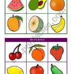 Fruits Bingo (Cards 7 & 8 Of 10) Fully Editable   Esl