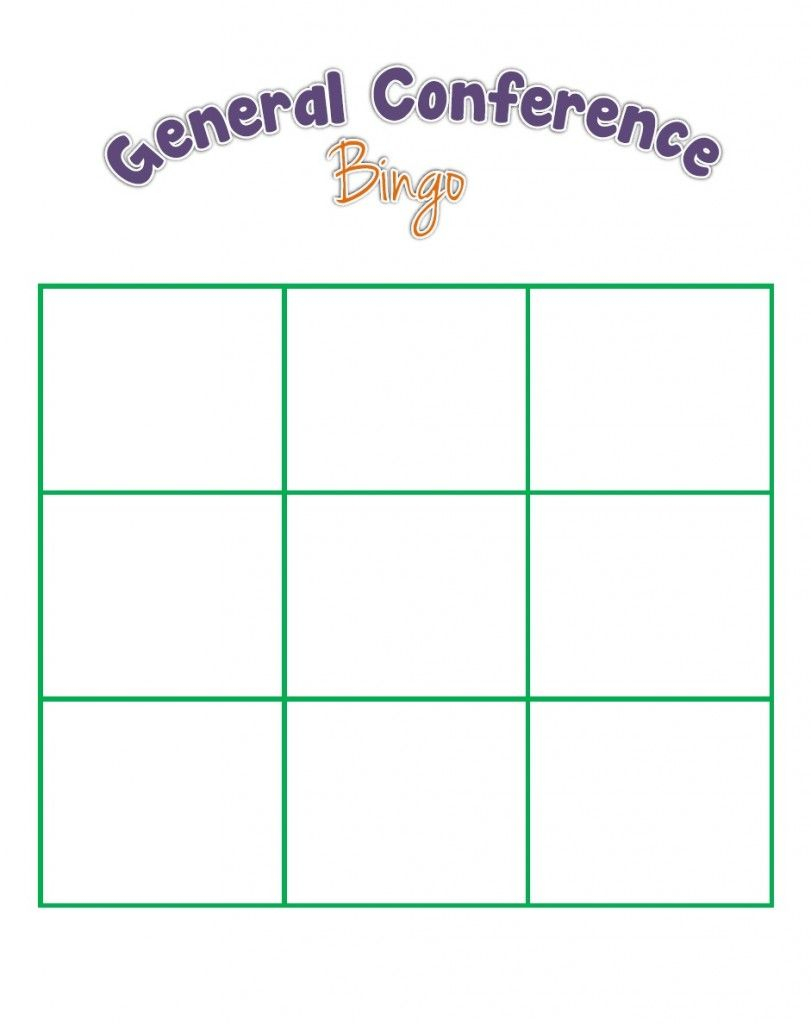 General Conference Bingo For The Kids | Bingo Card Generator