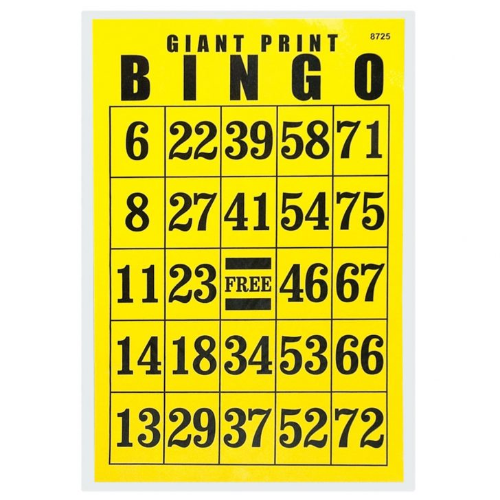 Big Printable Bingo Cards