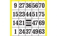 Giant Print Bingo Card- Yellow