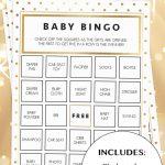 Gold Glitter Shower Printable Bingo Cards   Ideeën Voor