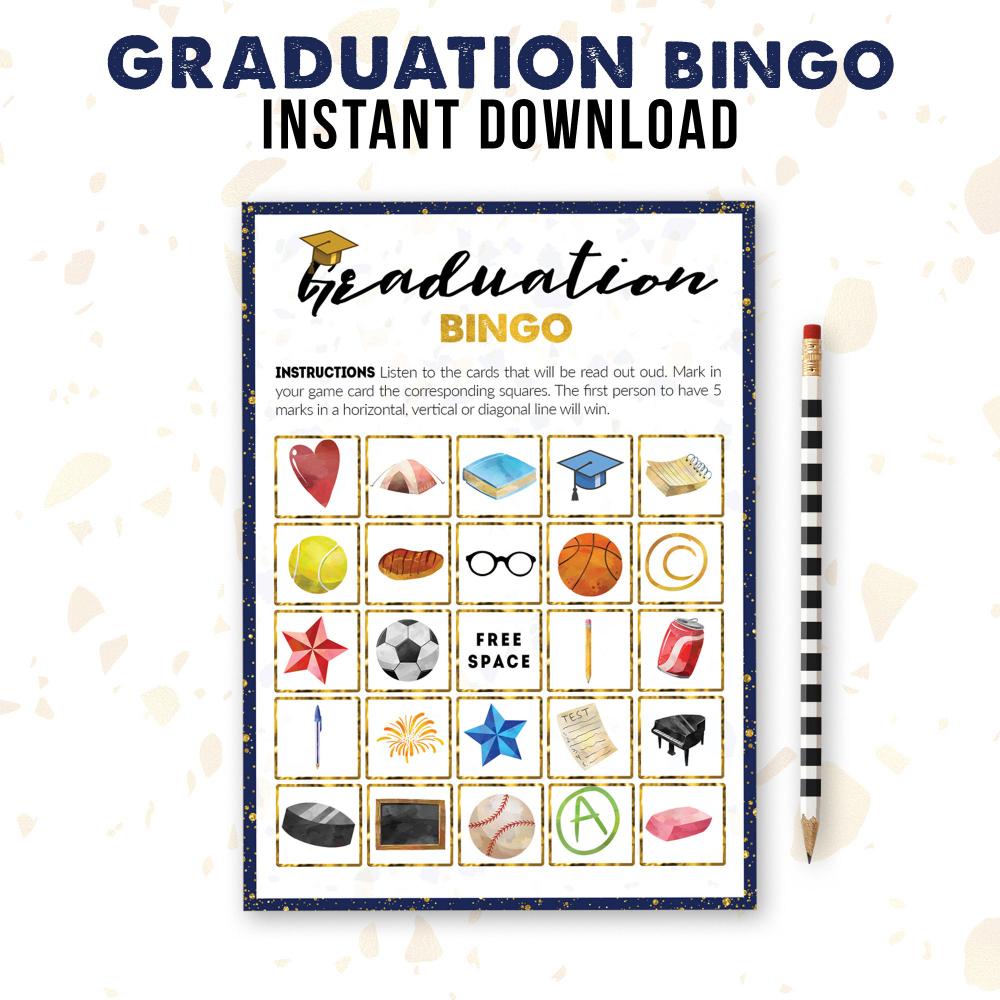 Graduation Bingo | Class Of 2019 Printable | Party Game