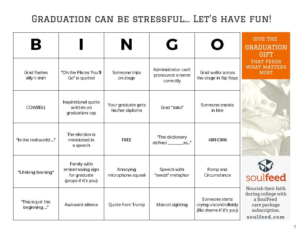Graduation Bingo! Free Download Of 6 Graduation Bingo Cards