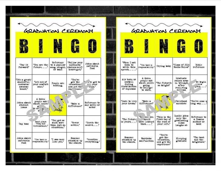 Printable Graduation Bingo Cards