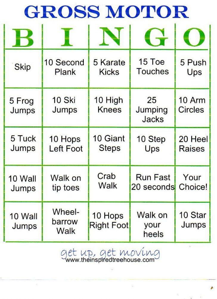 Chair Activity Bingo Cards Printable