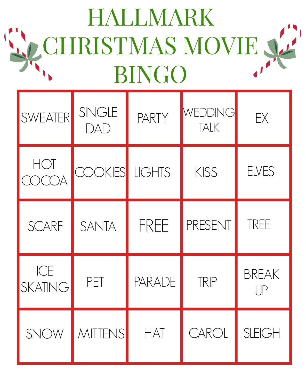 Hallmark Christmas Movie Bingo For True Fanatics   Hallmark