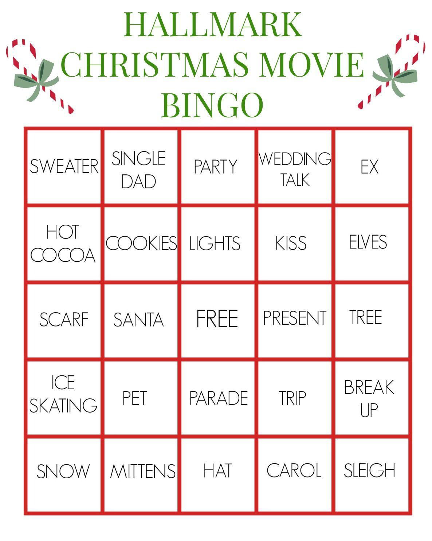 Hallmark Christmas Movie Bingo For True Fanatics | Hallmark