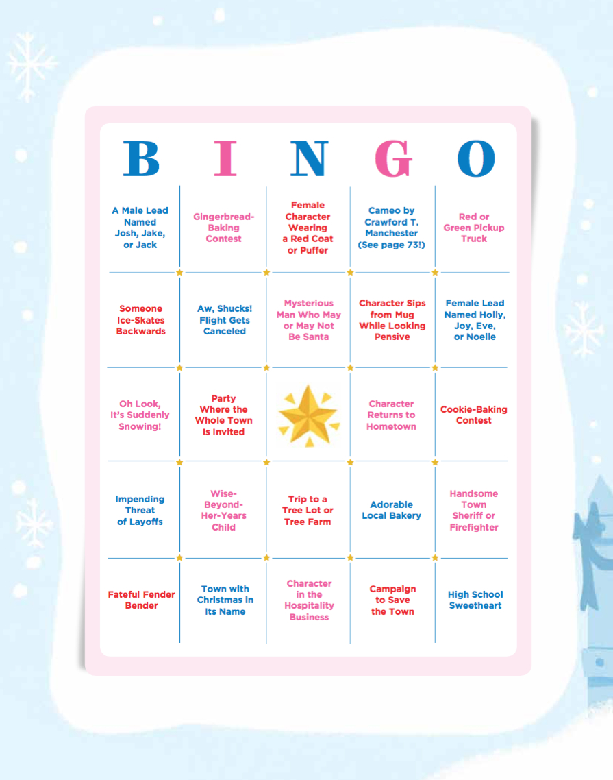 Hallmark Christmas Movie Bingo - Free Holiday Bingo Game