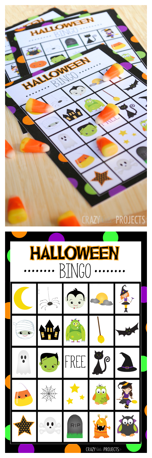 Halloween Bingo - Cute Free Printable Game - Halloween