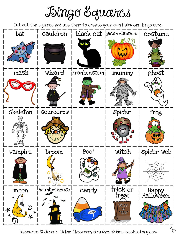 Halloween Bingo | Halloween Bingo, Halloween Activities