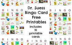 Happy Birthday Dr. Seuss! Dr. Seuss Free Bingo #printable