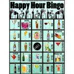 Happy Hour Bingo  28 Cards  Pub Crawl  Beer  Cocktail