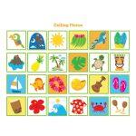 Hawaiian Bingo Game   Kid's Printable Bingo Game, 60 Cards