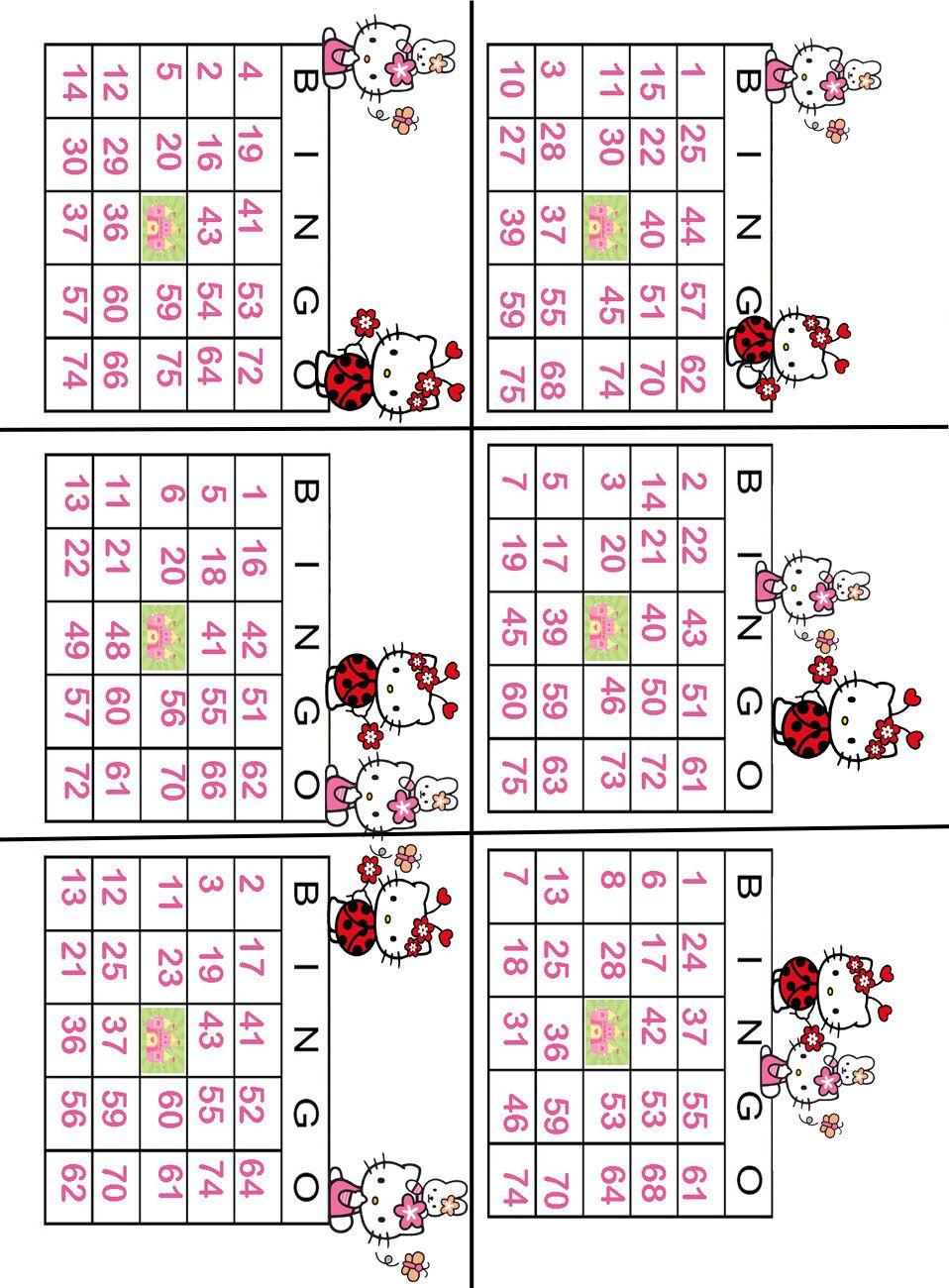 Hello Kitty Printable Bingo Game - Tombola   Hello Kitty