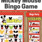 Here's A Fun Bingo Game To Play At Your Mickey Mouse Party