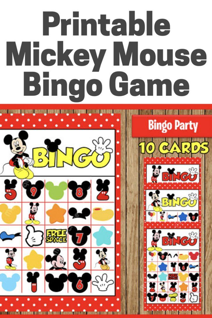 Mickey Mouse Bingo Cards Printable