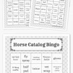 Horse Catalog Bingo | Free Printable Bingo Cards, Bingo