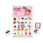 Horse, Pony Bingo Game, Pony Party Game, Girl's Printable