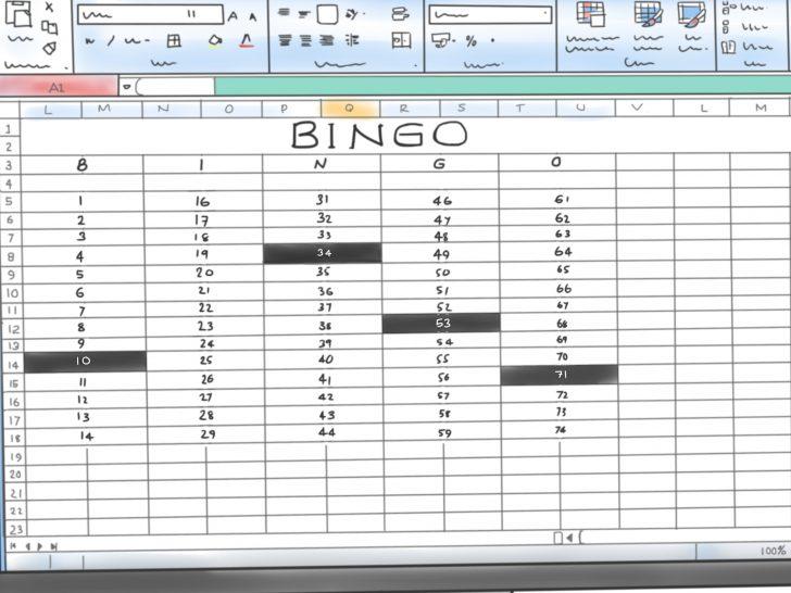 Printable Bingo Cards Excel