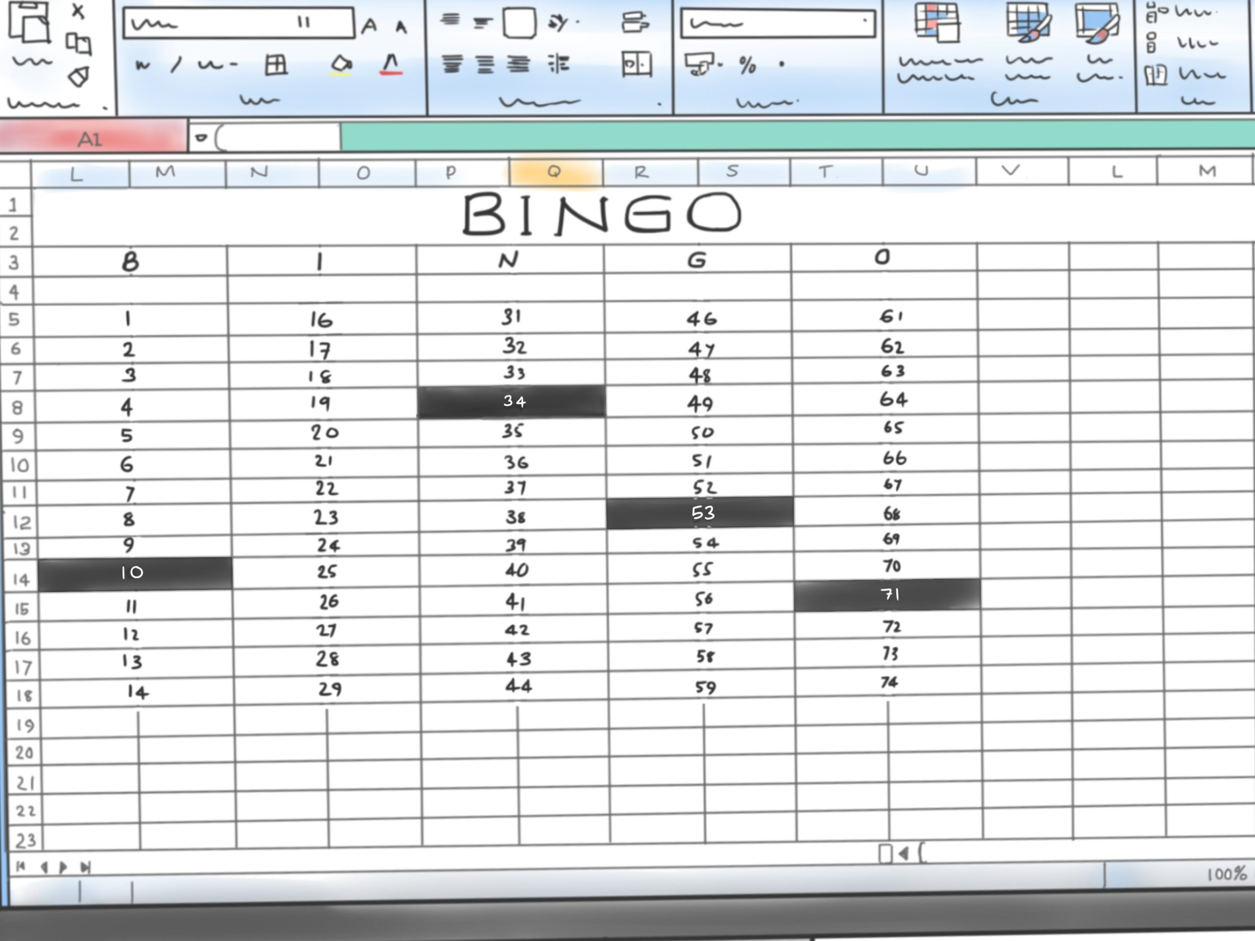 How To Make A Bingo Game In Microsoft Office Excel 2007: 9 Steps