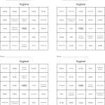 Hygiene Bingo Cards   Wordmint