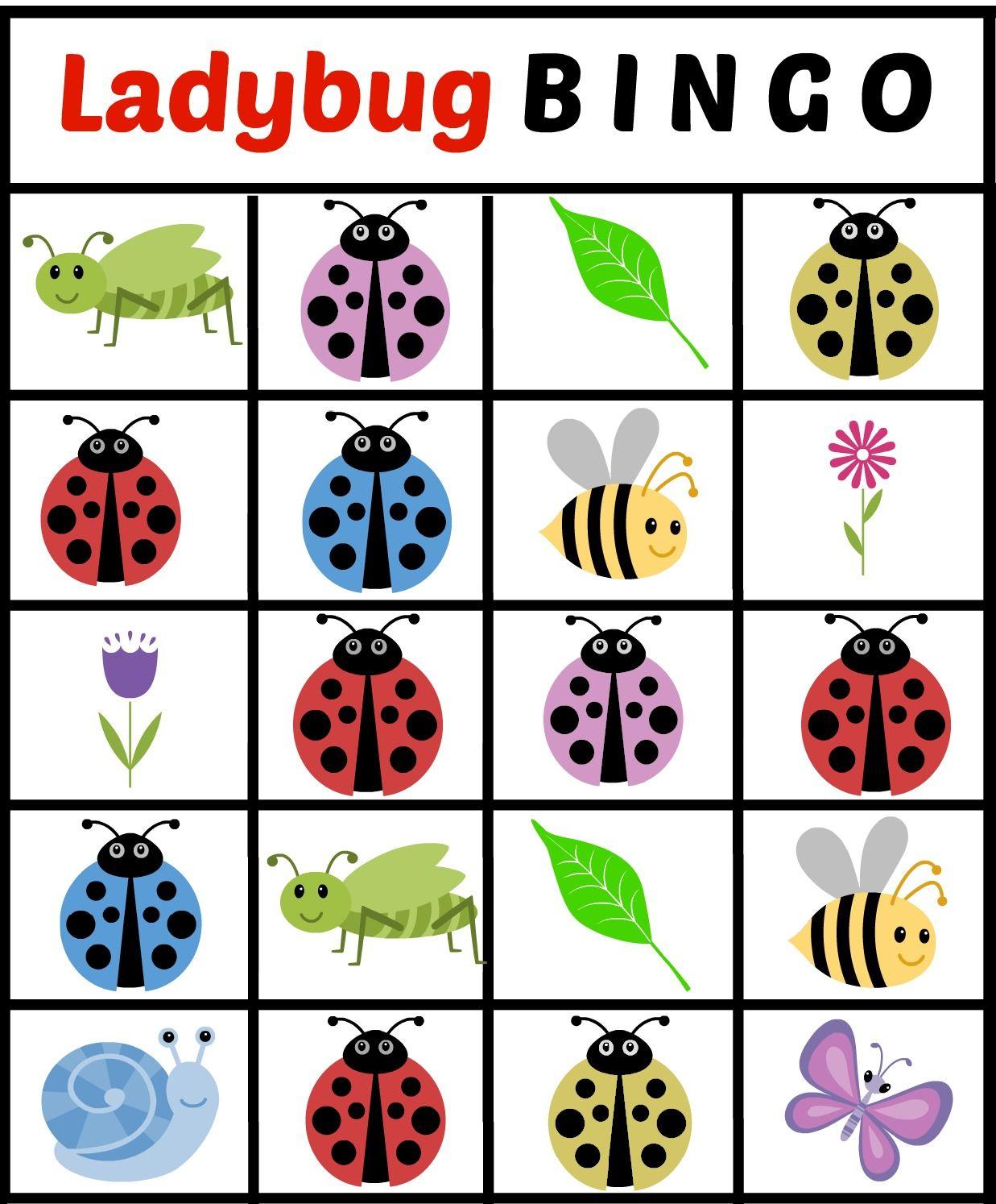 Ladybug Bingo Card 2 - Jenny At Dapperhouse Free Printables