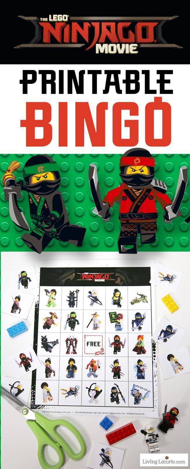 Lego Ninjago Movie Bingo - Lego Verjaardagsfeestje, Lego