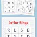 Letter Bingo | Free Printable Bingo Cards, Bingo Cards, Bingo