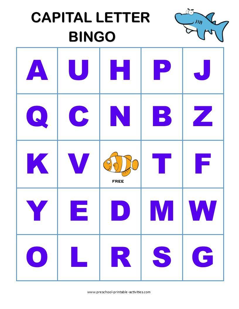 Letter Recognition Bingo Games | Letter Recognition, Letter