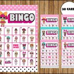 Lol Surprise Dolls Bingo Game – Printable – 30 Different