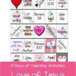 Love Of Jesus Bingo | Valentine Activities, Valentine Bingo