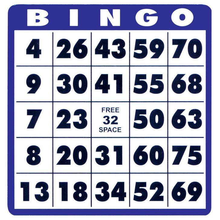 Large Print Bingo Cards Free Printable