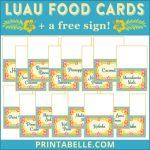Luau Party Food (+Printables!) | Luau Party, Luau, Luau Food