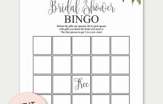Marsala Printable Bridal Shower Bingo Cards | Bridal Shower
