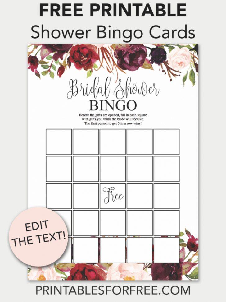 Free Printable Bridal Shower Gift Bingo Cards